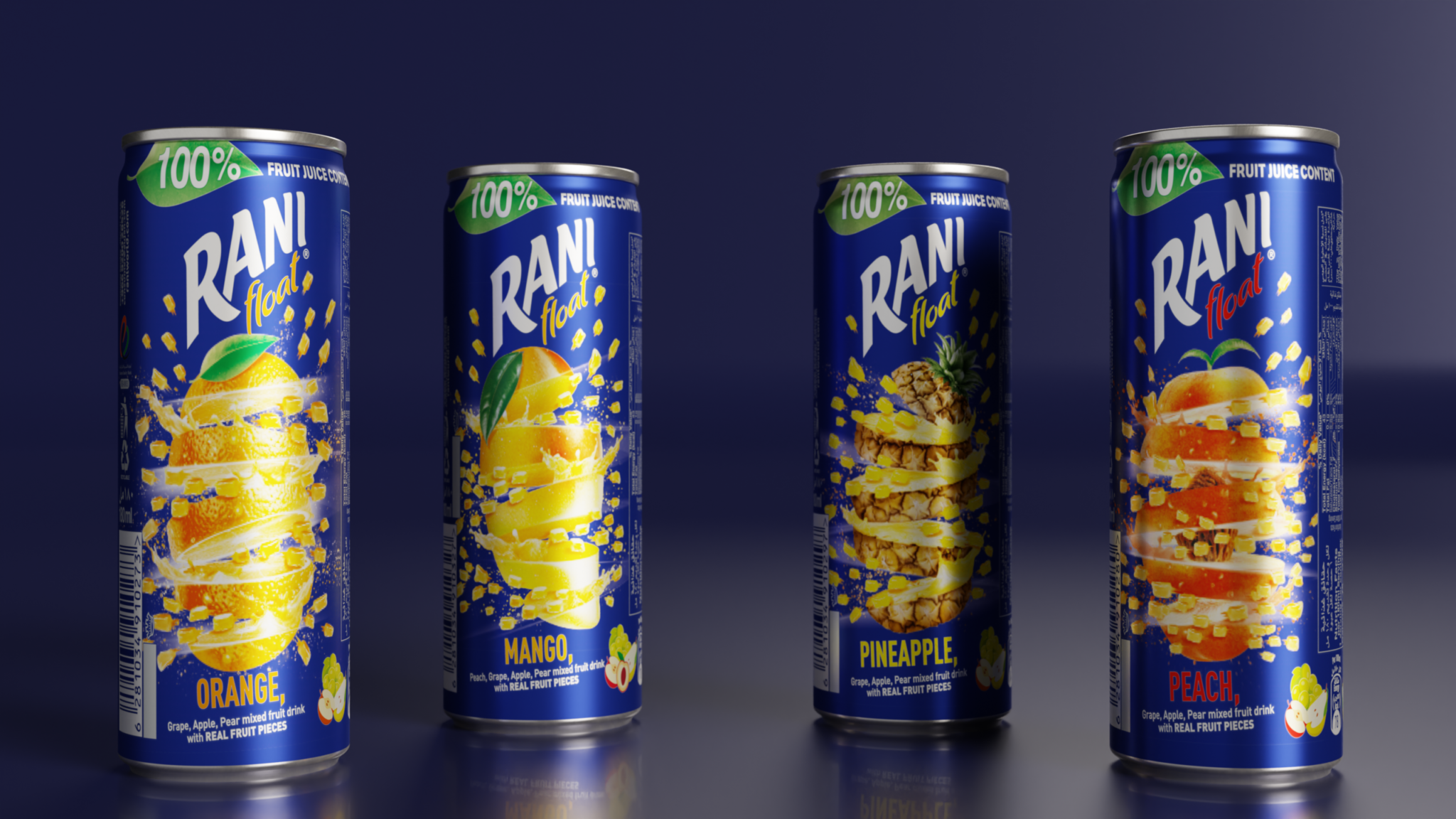 Rani cans lined up